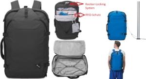 Pacsafe Venturesafe EXP45 diebstahlsicherer Rucksack für Handgepäck